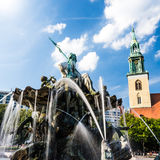 Neptunbrunnen berlin Stock Images