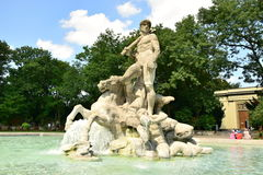 The NEPTUNBRUNNEN fountain (Neptun fountain) in Botanical Garden in Munich, Germany Stock Image