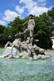 The NEPTUNBRUNNEN fountain (Neptun fountain) in Botanical Garden in Munich, Germany Stock Photo