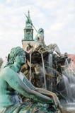 Neptunbrunnen Fountaine Нептуна в Берлине, Германии Стоковые Изображения RF