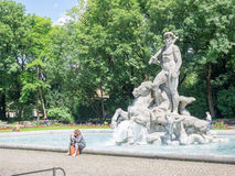Neptunbrunnen munich Royalty Free Stock Image