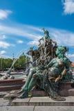Neptunbrunnen or Neptune fountain at Alexanderplatz square, Berl Royalty Free Stock Images