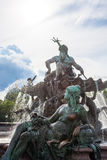 Neptunbrunnen (Neptune fountain) in Alexanderplatz square Royalty Free Stock Photo