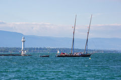 Neptune łódkowaty Lemański jezioro fotografia royalty free