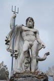 Neptune. Statue located in Piazza del popolo (Rome, Italy Stock Photography
