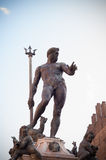 Neptune. Fountain of Neptune in Bologna. Italy Stock Images