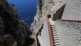 Neptune cave , Sardinia Royalty Free Stock Photos
