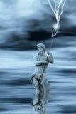 Neptune dans l'eau Photo stock