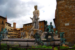 Neptune in Florence Stock Image