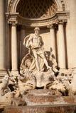 Neptune, Fontanna Di Trevi Stock Photography