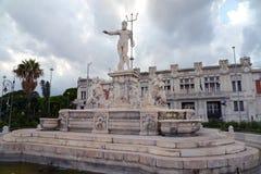Neptune fontanna w Messina fotografia royalty free