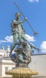 Neptune fontanna w Poznańskim Obrazy Royalty Free