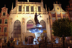 Neptune fountain. The famous Neptune fountain in Gdansk Stock Image