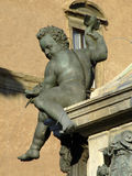 Neptune Fountain. Putto of the Neptune Fountain, Bologna, Italy Royalty Free Stock Image