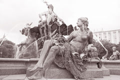 Neptune Fountain, Alexanderplatz Square, Berlin Royalty Free Stock Photography
