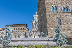 Neptune fountain by Ammannati in Florence, Italy Royalty Free Stock Photos