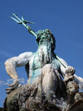Neptune fountain in Berlin. Admission OF the Neptune fountain in Berlin Alexanderplatz Stock Photo