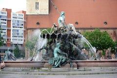 Neptune Fountain Berlin Royalty Free Stock Image