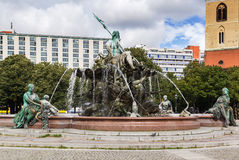 The Neptune Fountain in Berlin, Germany Royalty Free Stock Images