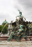 The Neptune Fountain in Berlin, Germany Stock Images