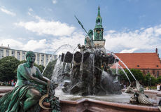 Neptune Fountain Berlin Royalty Free Stock Images
