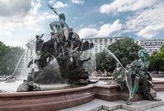 Neptune Fountain Berlin Royalty Free Stock Photography