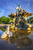 The Neptune Fountain in Berlin. At sunrise, Germany Royalty Free Stock Photo