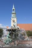 Neptune fountain in Berlin Royalty Free Stock Photography
