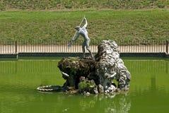 The Neptune fountain in the Boboli gardens Stock Photo