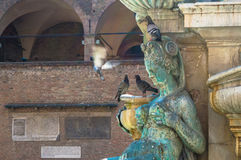 Neptune. The fountain of Neptune in Bologna, Italy Stock Photo