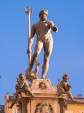 Neptune Fountain in Bologna At Night Stock Photos