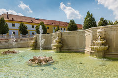 Neptune fountain at  castle Schloss Hof, Austria Stock Photo