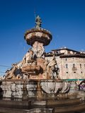 The Neptune fountain in Cathedral Square, Trento, Italy. Stock Image