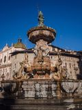 The Neptune fountain in Cathedral Square, Trento, Italy. Stock Photography
