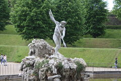 Neptune fountain in the center of the Boboli Gardens. The Sculptor, Stoldo Lorenzi. Florence Royalty Free Stock Photography