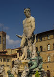 Neptune Fountain in Florence Accademia Royalty Free Stock Image