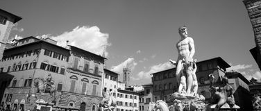 Neptune Fountain in Florence, Italy Stock Photography