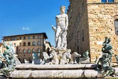 Neptune fountain, Florence, Italy Stock Images