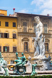 Neptune Fountain in Florence, Italy Stock Photo