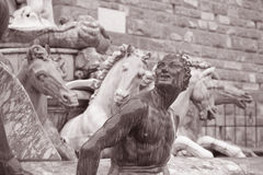 Neptune Fountain - Fontana di Nettuno by Ammannati (1565), Flore Royalty Free Stock Photography