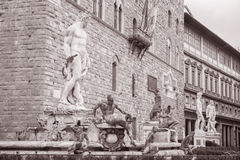 Neptune Fountain - Fontana di Nettuno by Ammannati (1565), Florece Stock Images