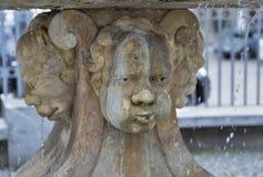 Neptune Fountain fragment in Ljubljana, Slovenia. Royalty Free Stock Photography