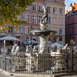 Neptune fountain in Gdansk, Danzig, Poland. Royalty Free Stock Images