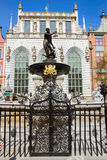 The Neptune fountain, Gdansk Stock Images