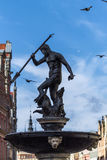 Neptune Fountain in Gdansk, Poland Royalty Free Stock Images
