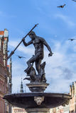 Neptune Fountain in Gdansk, Poland Stock Photos