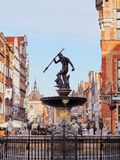 Neptune Fountain in Gdansk, Poland. Fountain of Neptune on the Dlugi Targ Street in Gdansk, Poland Royalty Free Stock Photography