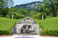 Neptune Fountain, Linderhof Germany 1 Stock Images