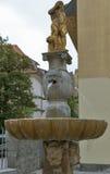 Neptune Fountain in Ljubljana, Slovenia. Stock Image