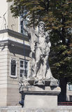 Neptune fountain in Lviv, Ukraine Stock Images